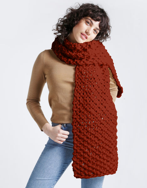 Rushmore scarf csw red ochre