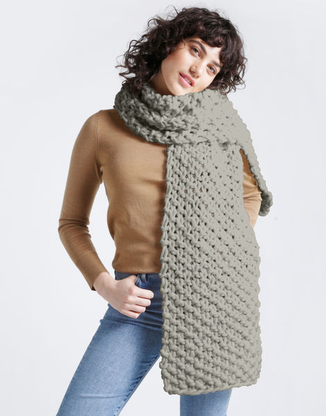Rushmore scarf csw rocky grey