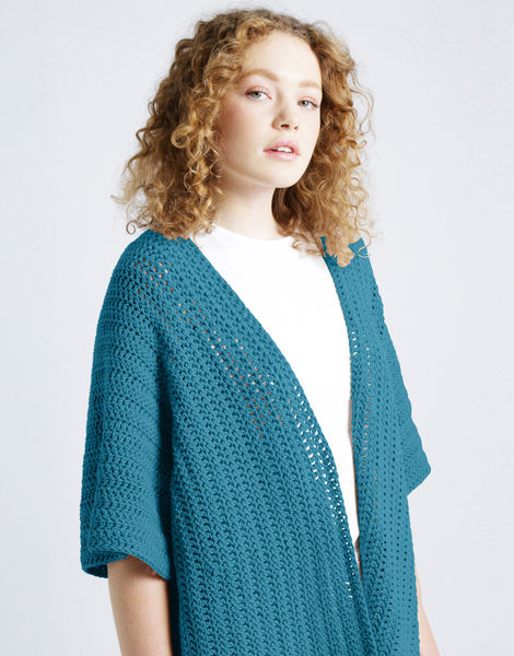 Rose cardigan shc turquoise waters