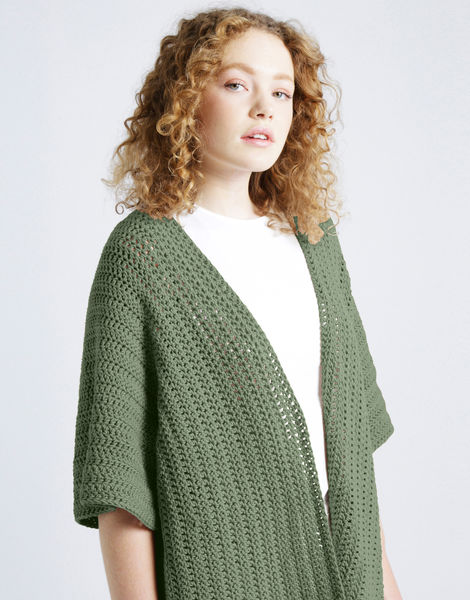 Rose cardigan shc army green