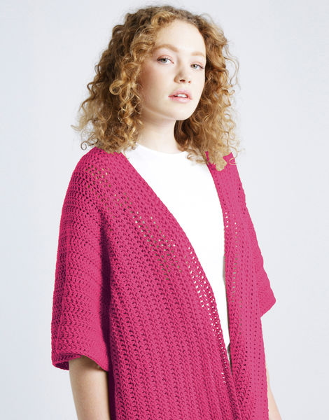 Rose cardigan shc hot punk pink