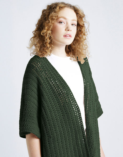 Rose cardigan shc fern green