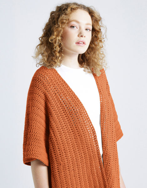 Rose cardigan shc bazaar orange
