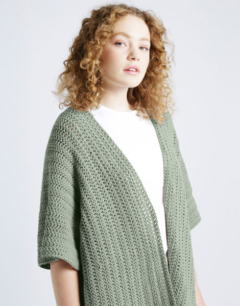 Rose cardigan shc eucalyptus green