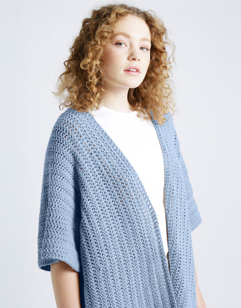 Rose cardigan shc powder blue