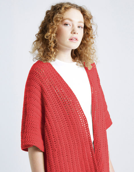 Rose cardigan shc lipstick red