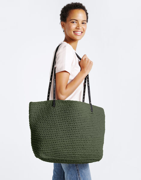 Carrie on tote mt army green