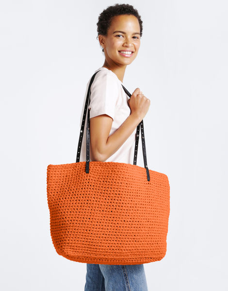 Carrie on tote mt rusty orange