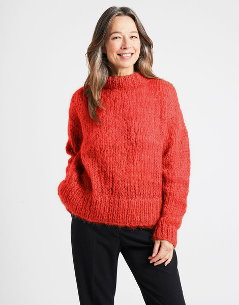 Fascination sweater tcm lipstickred