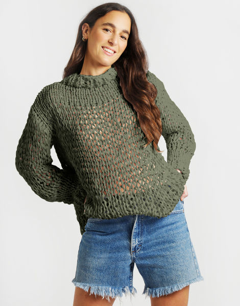 Summer breeze sweater mt army green