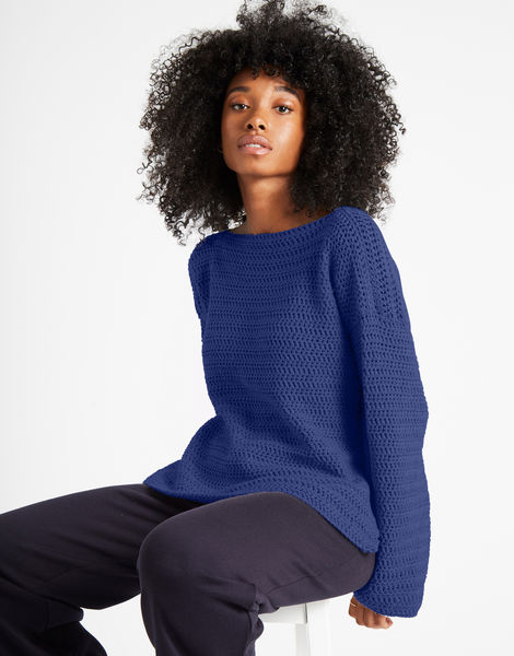 Devotion jumper shc cobalt blue