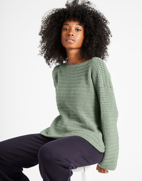 Devotion jumper shc eucalyptus green