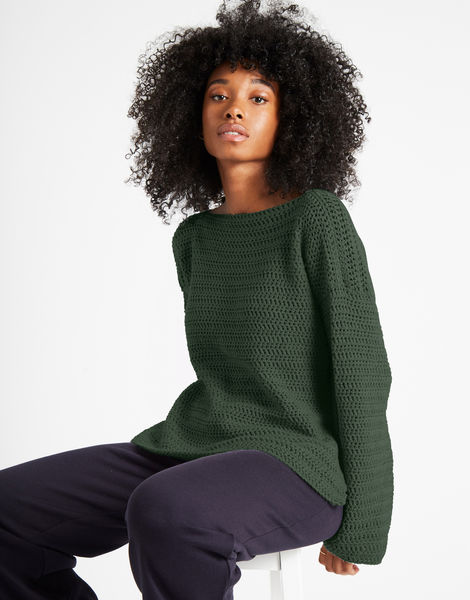 Devotion jumper shc fern green