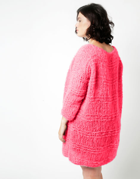 Stay cardigan tcm hot punk pink