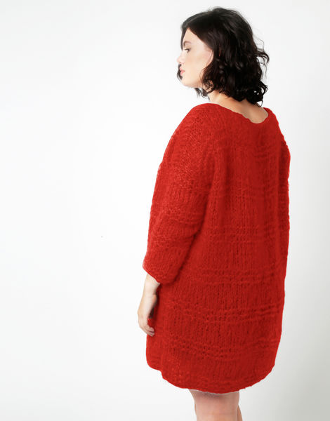 Stay cardigan tcm lipstickred