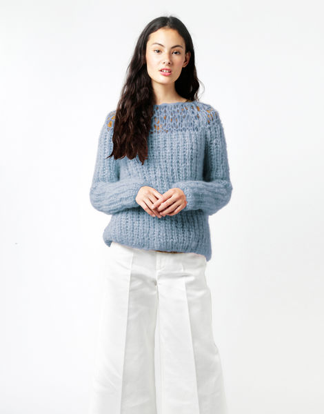 Unapologetic sweater tcm dustyblue