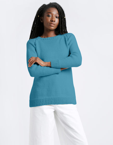Dustin sweater shc turquoise waters