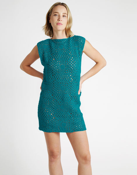 Hot in here dress tt quetzal green