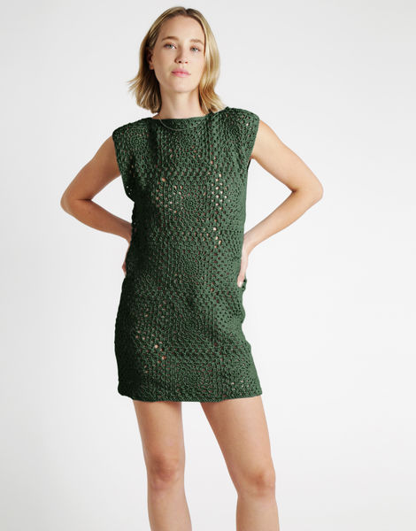 Hot in here dress tt fern green