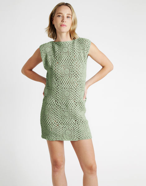 Hot in here dress tt eucalyptus green