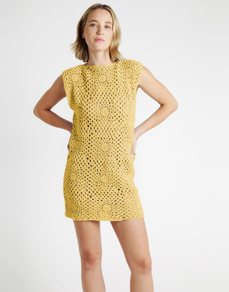 Hot in here dress tt chalk yellow