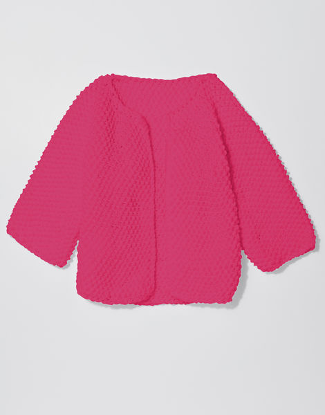 Chillax cardi shc hot punk pink