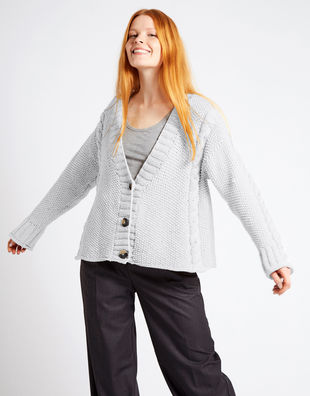 Second wave cardigan nwy white noise
