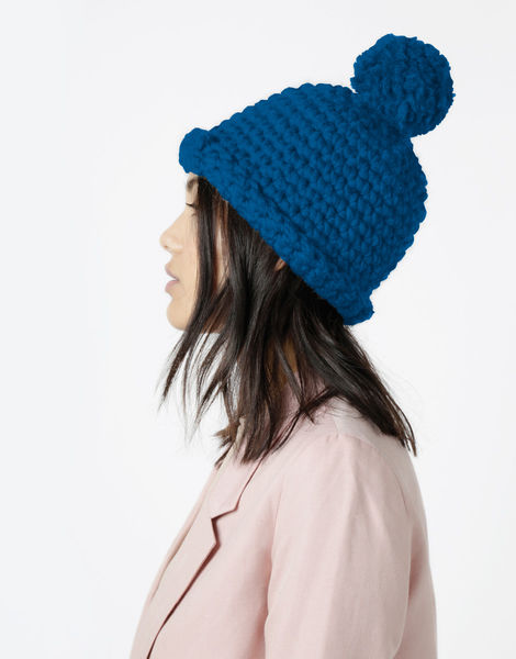 Burn it up beanie csw sherpa blue