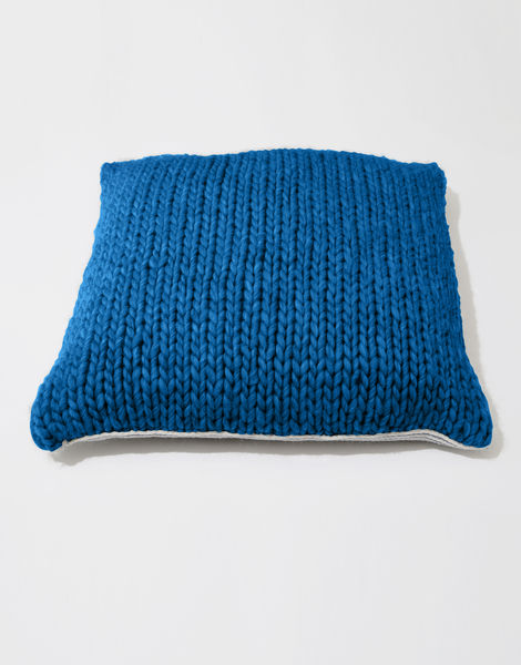 Carey cushion csw sherpa blue