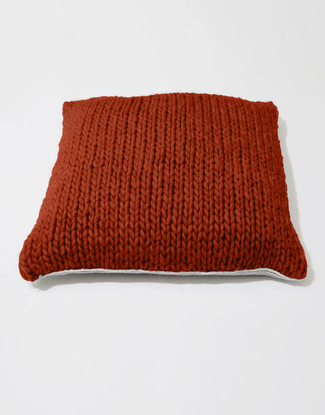 Carey cushion csw red ochre
