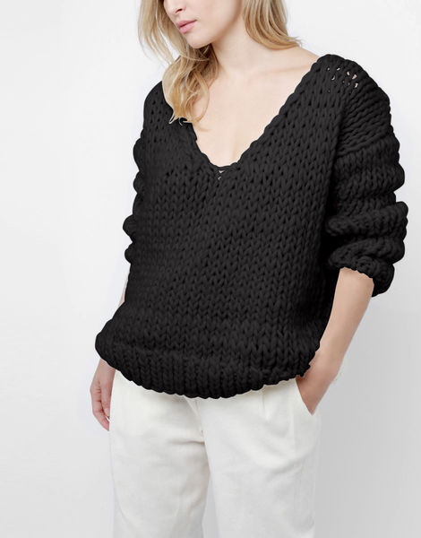 Way wool sweater csw space black