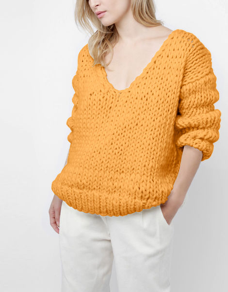 Way wool sweater csw fireball orange