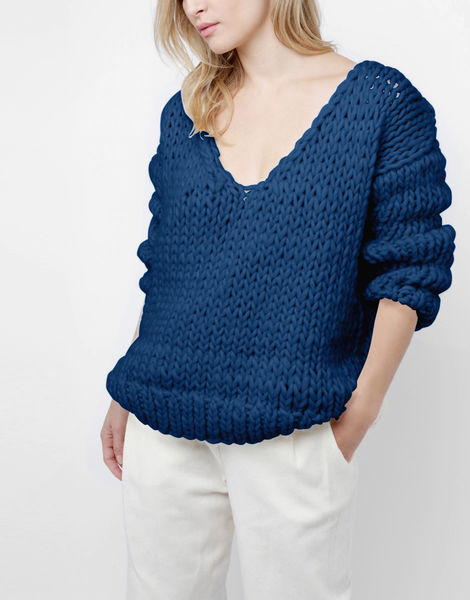 Way wool sweater csw curasao blue