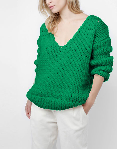 Way wool sweater csw emerald green