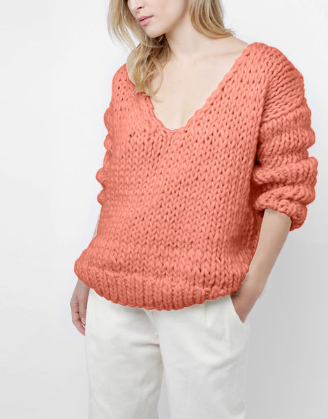 Way wool sweater csw pink sherbert