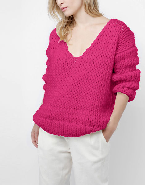 Way wool sweater csw hot punk pink