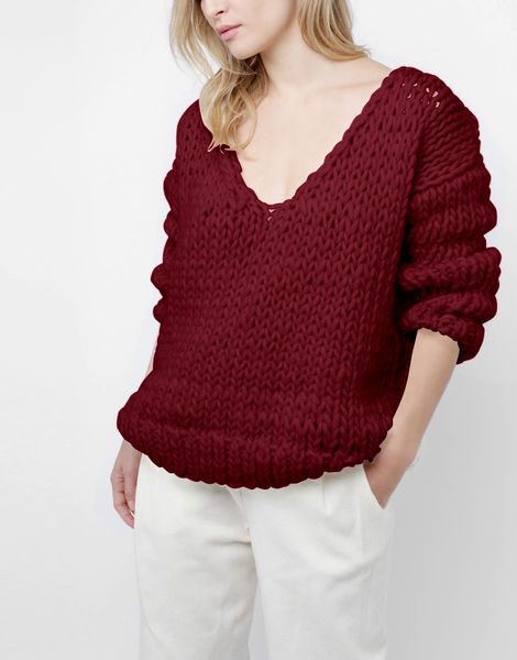 Way wool sweater csw bordeaux