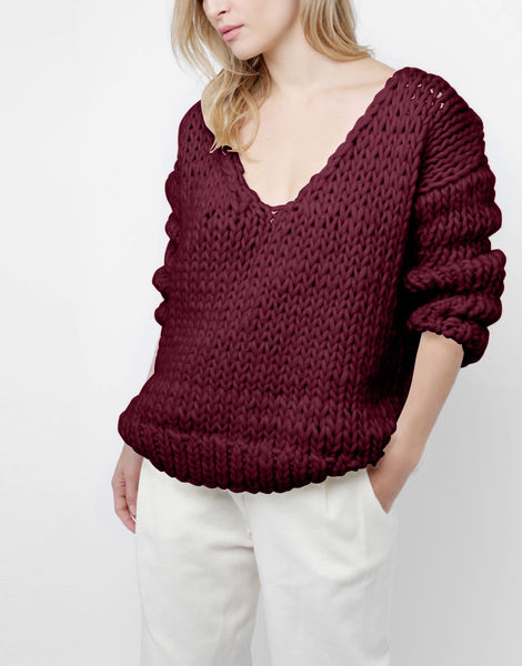 Way wool sweater csw margaux red