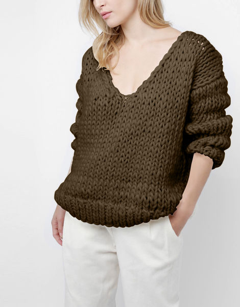Way wool sweater csw khaki green