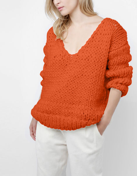 Way wool sweater csw rusty orange