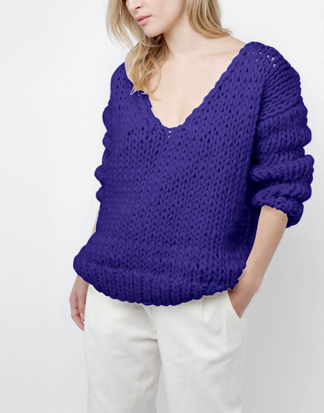 Way wool sweater csw ultra violet