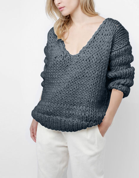 Way wool sweater csw eagle grey