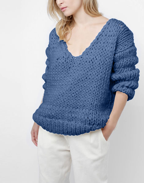 Way wool sweater csw dusty denim
