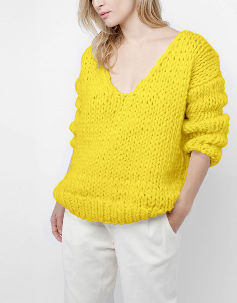 Way wool sweater csw big bird yellow