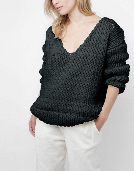 Way wool sweater csw forest green