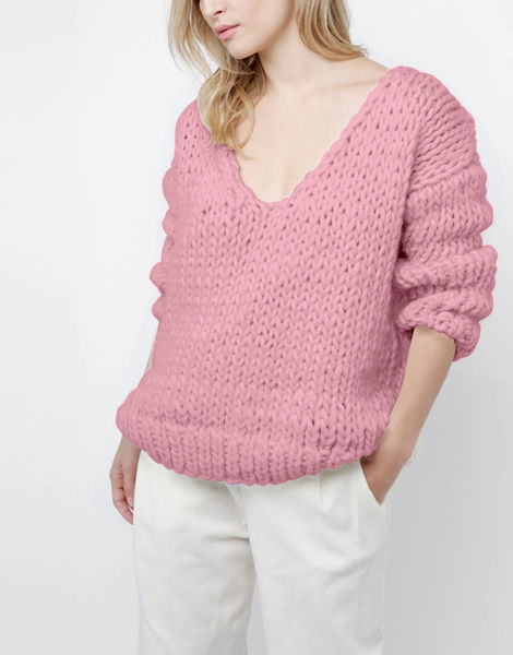 Way wool sweater csw pink lemonade