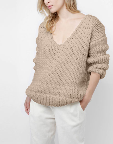 Way wool sweater csw sandtrooper beige