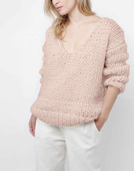 Way wool sweater csw cameo rose