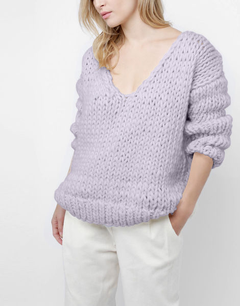 Way wool sweater csw lilac powder