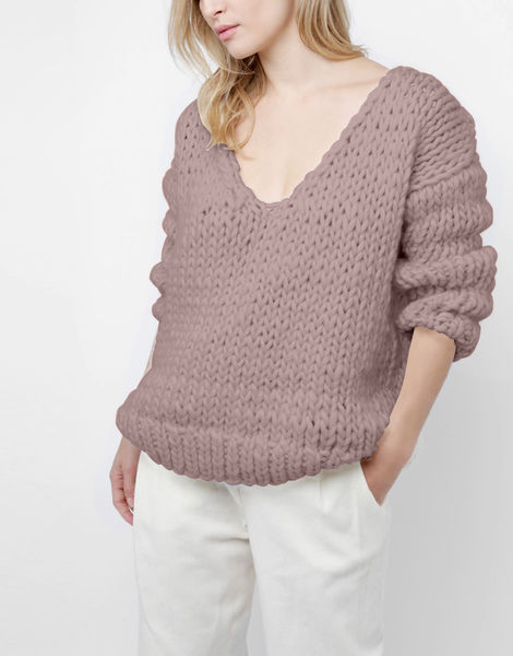 Way wool sweater csw mellow mauve